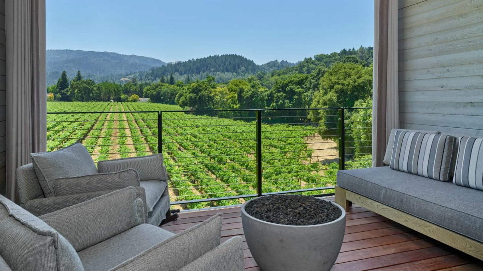 Las Alcobas, a Luxury Collection Hotel, Napa Valley - Deluxe King with Deck, Upper Floors